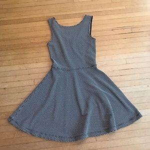 EUC polka dot skater dress from Frenchi!🖤